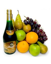 Cognac and fruits